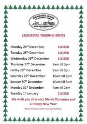 Mannum Visitor Information Centre Trading Hours